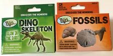 Two Science Archaeology Mini Dig Kits Glow in the Dark Dino Skeleton and Fossils
