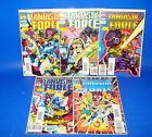 Lote de comics FANTASTIC FORCE numeros 1-2-3-5 Y 7 EMBOLSADOS Y PROTEGIDOS