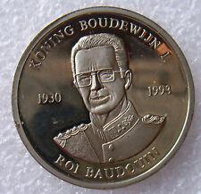 Belgie penning Koning Boudewijn in memorial, 1993