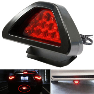 F1 Style 12 LED Car Tail Brake Light Rear Bumper Third Strobe Safety DRL Lamp