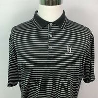 Nike Golf /  Black & White Stripe Polo Shirt /  Dri-Fit / TPC Sugarloaf /  Large