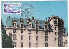CARTE MAXIMUM FDC 1979 TIMBRE N° 2048 CHATEAU DE NANTES FACADE INTERIEURE