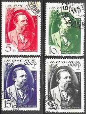 Russia (USSR) #555-558, used - 1935 - Engels - Complete Set - CV=30.-