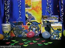 Batman Party Set # 8 Batman Party Pieces Tablecloth Plates Napkins Cups Loot Bag