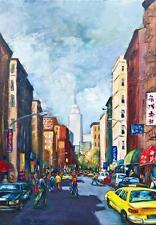 RARE NEW YORK CITY CHINA TOWN PAINTING BETTY WITTWE!!!!