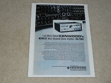 Kenwood KA-7002 Amplifier Ad, 1 page, Specs, Article, Integrated Amplifier