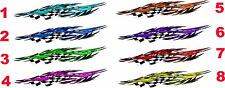 "Kart Golf Boat Car Truck Graphics Racing Flag Flames Decals Sticker wrap 50""x10"""