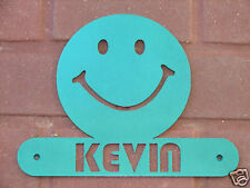 SMILEY FACE METAL HOME ADDRESS SIGN  WALL DECOR HOUSE