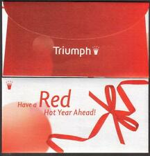 Triumph 2012 Ribbon CNY 2 pcs Mint Red Packet Ang Pow