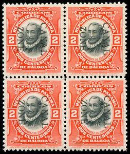 momen: Canal Zone Stamps #27 Block of 4 Mint OG GEM
