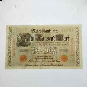 Germany 1910 1000 marks Red Seal S Nr9544160K vf
