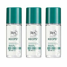 3X RoC Keops Deodorant Roll-On 30ml Personal Care