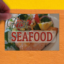 Decal Sticker Fresh Seafood #1 Style A Food & Beverage Outdoor Store Sign