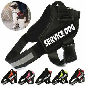Adjustable Service Dog Harness Pet Training Vest w/ Reflective Patches XS-XXL AU