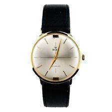 PRECIMAX Uhr Armbanduhr Herren HAU 750 Gold 18 kt mit Lederband