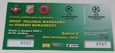 old ticket CL q Polonia Warszawa Dinamo Bucarest 2000 Poland Romania Plock