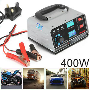 12V/24V 400W Heavy DutySmart Car Battery Charger Automatic Pulse Repair Trickle