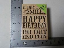 Hero Arts #K5635 Happy Birthday Wood Mount Rubber Stamp New A1524