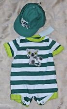NWT Boys Outfit 0-3M Bodysuit 3-6 M Hat GYMBOREE Racoon Green SHOWER GIFT