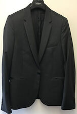 "Paul Smith Blazer 1x Button ""MAINLINE"" Dark Grey Wool & Cashmere Slim Fit UK38"