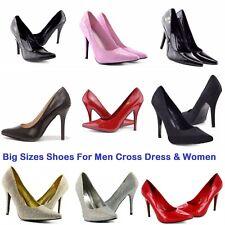 Unisex Ladies Drag Queen Cross dresser High Heel Platform Court Shoes sizes 9-12