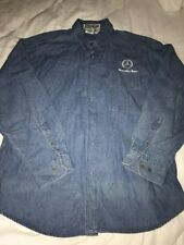 Men'S Mercedes-Benz Sacramento California Car Dealership Denim Shirt Szl
