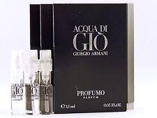 GIORGIO ARMANI ACQUA DI GIO PROFUMO 1.5ml .05oz x 3 COLOGNE SPRAY SAMPLE VIALS