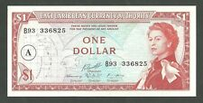 Currency Paper Money Note East Caribbean States Pick 13H One Dollar Bill 1965