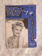 Vintage Down Beat Magazine Irene Day August 1, 1945