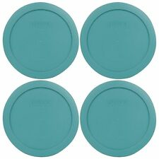 Pyrex 7201-PC 4 Cup Round Plastic Turquoise Replacement Lid for Glass Bowl 4PK