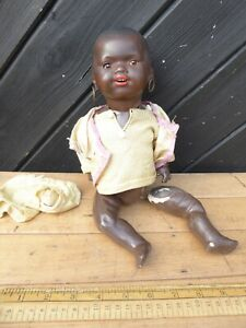 Antique Armand Marseille Doll 362./2 1/2K Black baby Doll with closing eyes