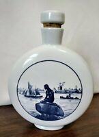 """HTF Vintage ROYAL COPENHAGEN """"Little Mermaid"""" Fajance Langelinie 2-3102 Bottle"""