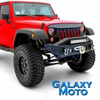 "Stubby Rock Crawler Front Bumper+21""~ 23"" light Mount for 07-18 Jeep JK Wrangler"