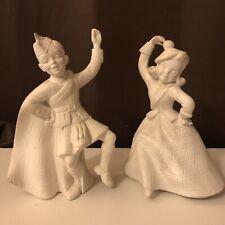 Vintage Holland Mold Boy & Girl Dancers Pair Irish Scottish Celtic Mid Century