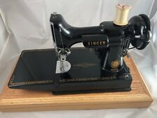 1955 Singer Featherweight Sewing Machine 221 Cat 3-120 Working, Case, Accs