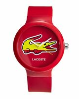 LACOSTE WOMENS RED SPORT WATCH NEW SPAIN GOA 2020071 QUARTZ - BNIB WITH TAGS