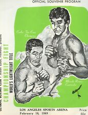 1969 Carlos Teo Cruz  vs. Mando Ramos  -  Lightweight Title Program  VG