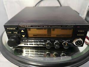 Yaesu FT-4700 dual band 2m/70cm, 10w. Twin receive TransceiverInc Tone Boards