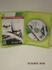 Batman Arkham City Game of the Year Edition Xbox 360 New Xbox 360 GREAT COND FSP