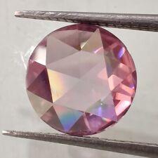 Rose Cut Loose Moissanite Diamond For Ring 1.25 Ct 7.74x2.66 mm Vvs1 Pink Round