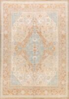 Vegetable Dye Muted Ushak Turkish Oriental Area Rug Handmade Oushak Carpet 9x12