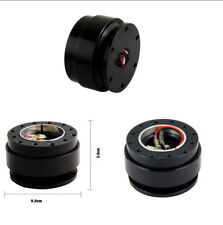 Car Steering Wheel Quick Release Hub Adapter Snap Off Boss Kit Black 6 Hole
