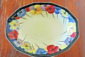 Large Royal Doulton Pansy serving dish - 27.5cm wide