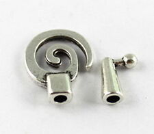 10SETS Tibetan silver spiral clasp for 4mm leather cord