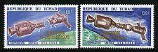 Space Raumfahrt 1975 Tschad Chad Apollo Soyuz 722-723 Gold Overprint MNH 1270