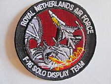 ROYAL NETHERLANDS AIR FORCE SOLO DISPLAY F-16 Embroidered Iron On Patch P116