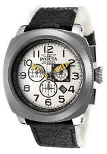Invicta 12314 Aviation Winter Polar Swiss Chrono Leather Faux Fur Pilot Watch