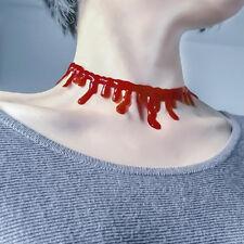 1pcs Dress Party Punk Necklace Choker Red Halloween Blood