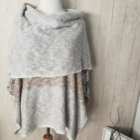 Umgee Womens Sweater Poncho Shawl Small / Medium Oversized