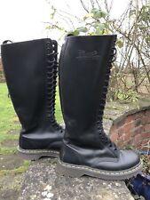 Doc Dr Martens 1420 Black 20 eyelet boots. Size UK 6 EU 39 Skinhead Goth Punk